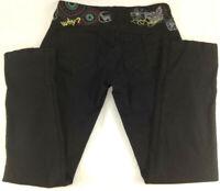 Desigual  Pantalon Fleurs Femme Slim Fit Noir Taille 38  Envoi rapide suivi