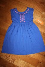 NWT Gymboree Hop 'n Roll Size 4T Blue Pink Flower Knit Dress