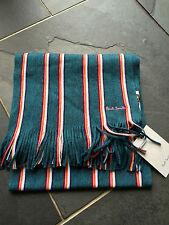 Paul Smith Ps Multicolor Bufanda de rayas - 100% Lana - NUEVO CON ETIQUETA