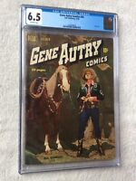 Gene Autry Comics #44 cgc 6.5 off-white Pgs Dell Oct 1950 Photocovers front/rear