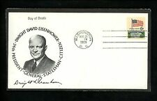 US Postal History Presidential Eisenhower Death Date 1969 Washington DC