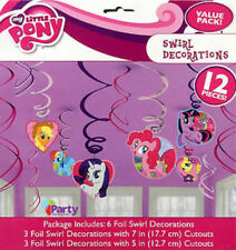 MLP hanging swirl party decorations my little pony foil 12 pcs  Pinkie Pie