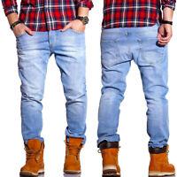 RELLO & REESE Jeans Hose Regular Straight Fit Hose Blau/Hellblau NEU
