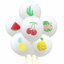 10X Hawaii Party Balloons Summer Fruit Printing Latex Balloon Decor Gathering