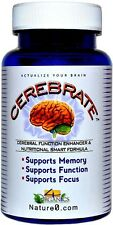 CEREBRATE Brain Memory & Cognition Focus Formula Concentration 60 Capsules - New
