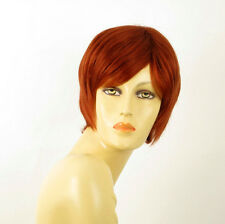 perruque femme 100% cheveux naturel courte cuivré intense ref LAETITIA 130
