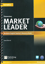 Pearson MARKET LEADER Elementary THIRD Edition Teacher's Book with CD-ROM @New