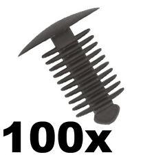100x Abete Albero Abete o pulsante plastica Trim Panel Clips - 9-10mm Foro - 18 mm Testa