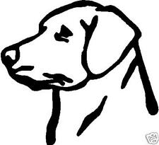 Black Vinyl Decal - Lab head - dog - puppy pup labrador retriever hunt fun