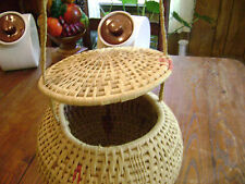 "Warao Indian ( Venezuela's Orinoco River Delta) 11"" x 9""  hand woven basket"