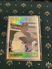 Ed Mathews 2020 Topps Chrome SP Game Used Bat Relic Case Hit Braves