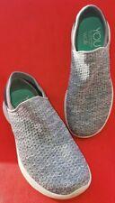 Skechers You Walk Women's Shoe Sz. 7M Gray Sock Like Heel Thick White Foam Soles