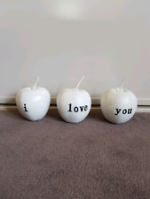 Ceramic Decorative apples fruit words i love u