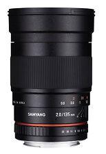 Samyang 135mm F2.0 ED Aspherical Telephoto Full Frame Lens for Sony E ILCE +GIFT
