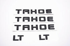 5x  Matte Black TAHOE LT Nameplate EMBLEM Letter for GM 07-18 Chevrolet USA