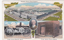 MICHIGAN, 1900-1910's; Henry Ford Factory, First Ford Machine Built, First Henry