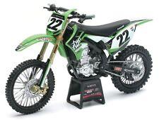 New ray 1:12 Chad Reed # 22 Two Two Kawasaki KXF 450 Toy Model Moto X Supercross