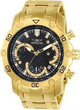 @NEW Invicta Pro Diver model 22767 Gold Tone Chronograph Bracelet Watch