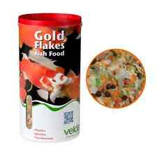8 LITRES 900g VELDA GOLD FLAKES FLOATING POND FISH FOOD GOLDFISH DAILY DIET FEED