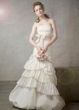NWT VERA WANG SIZE 12 IVORY MERMAID TAFFETA WEDDING GOWN DAVID'S BRIDAL IVORY