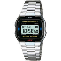 Casio Unisex Men's Ladies A-163WA-1QES SILVER Steel Band Digital Watch RRP£40