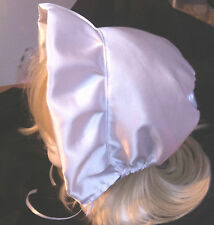 white adult baby adult child victorian edwardian satin bonnet sissy fancy dress