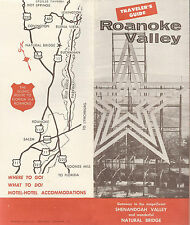Roanoke Valley Virginia Vintage Travel Brochure What to See Where to Stay