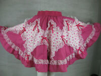 Square Dance Skirt S - XL Valentines Day Pink Hearts SQUARE UP FASHIONS New