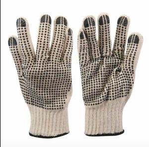 12 Pairs of Gloves Grips Gardening Work Rubber Dots Multipurpose DIY Home Garden