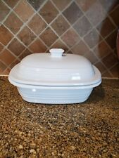 New listing Pampered Chef Deep Covered Stoneware Baker White w/ Lid 3.1 Qrt Dutch Oven - New