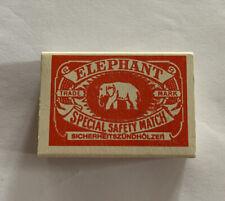 Elephant Special Safety Match  Sicherheitszundholzer  Vtg Rare Match Box Compl.