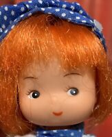 """6 1/2"""" All Vinyl Hong Kong Unbranded Red Head Doll Watermelon Smile"""