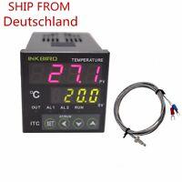 ITC-100RH PID Digital Temperaturregler Thermoschalter Heizung 220V + K SENSOR