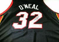 SHAQUILE O'NEAL / NBA HALL OF FAME / AUTOGRAPHED MIAMI HEAT CUSTOM JERSEY / COA