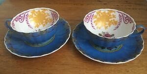 T2 Turkish delight cup & saucer x 2