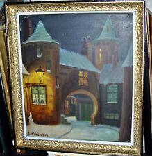 SCHILDERIJ     BOTERHUIS te Brugge    DEVRIENDT  A   1954   35x45cm  Encdr