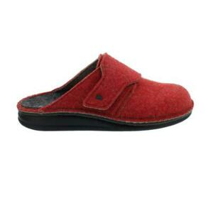 Finn Comfort Tirol, Clog From Doublefilz, Red, Touch Fastener 6500-482147 Finnco
