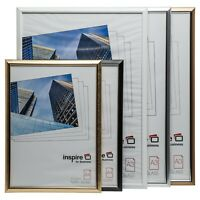 A1 A2 A3 A4 Plexi Glass Certificate Poster Frame In Black Silver Gold & White