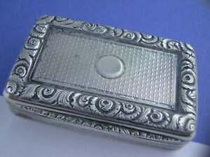 English Sterling Silver Snuff Box EDWARD EDWARDS London c1841 w/ provenance
