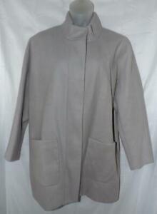 OLD NAVY Light Gray XXL 2X 18 / 20 Church Office Soft Coat Front Pockets