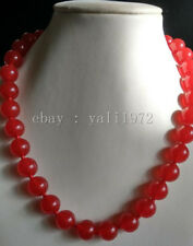 AAA 12MM red jade necklace 18inch magnet clasp