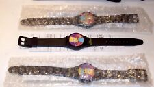 1997 Promotional Bart Simpson's Reflector Watch UNUSED Subway w/Paperwork NEW