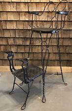 Antique 20's Original Wire Shoe Shine Chair Station - Royal Chicago Products Co.