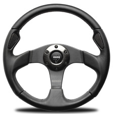Genuine Momo Jet D35 black leather with carbon fibre, 350mm steering wheel.