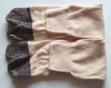 Paire de chaussettes Tabi beige/gris