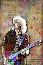 Brian May Of Queen 20x30inch Poster Queen Tribute Brian May Art Shipping Us