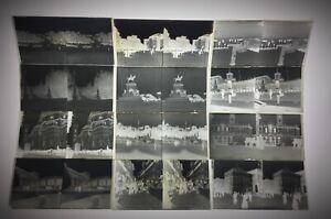 Rare lot 12 photos stéréoscopiques  Paris 1889 ? Florence italie …. Et autres