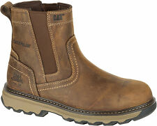 Mens Cat Lightweight Safety Work Boots Dealer Chelsea Steel Toe Slip On S1P