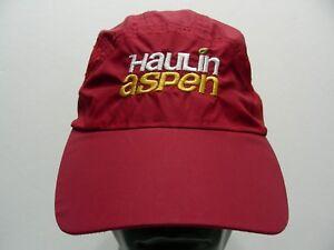 HAULIN ASPEN - OPEN TRAIL MARATHON - LIGHTWEIGHT NYLON ADJUSTABLE BALL CAP HAT!