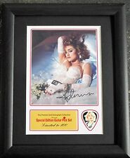 Madonna Preprinted Autograph & Guitar Pick Display Mounted & Framed